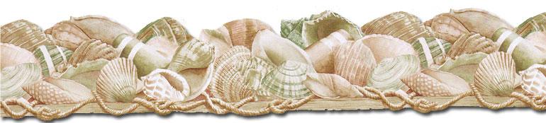 45 Bathroom Seashell Wallpaper Borders On Wallpapersafari