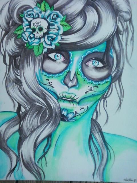 Sugar Skull Girl by forgivecherrish 480x640