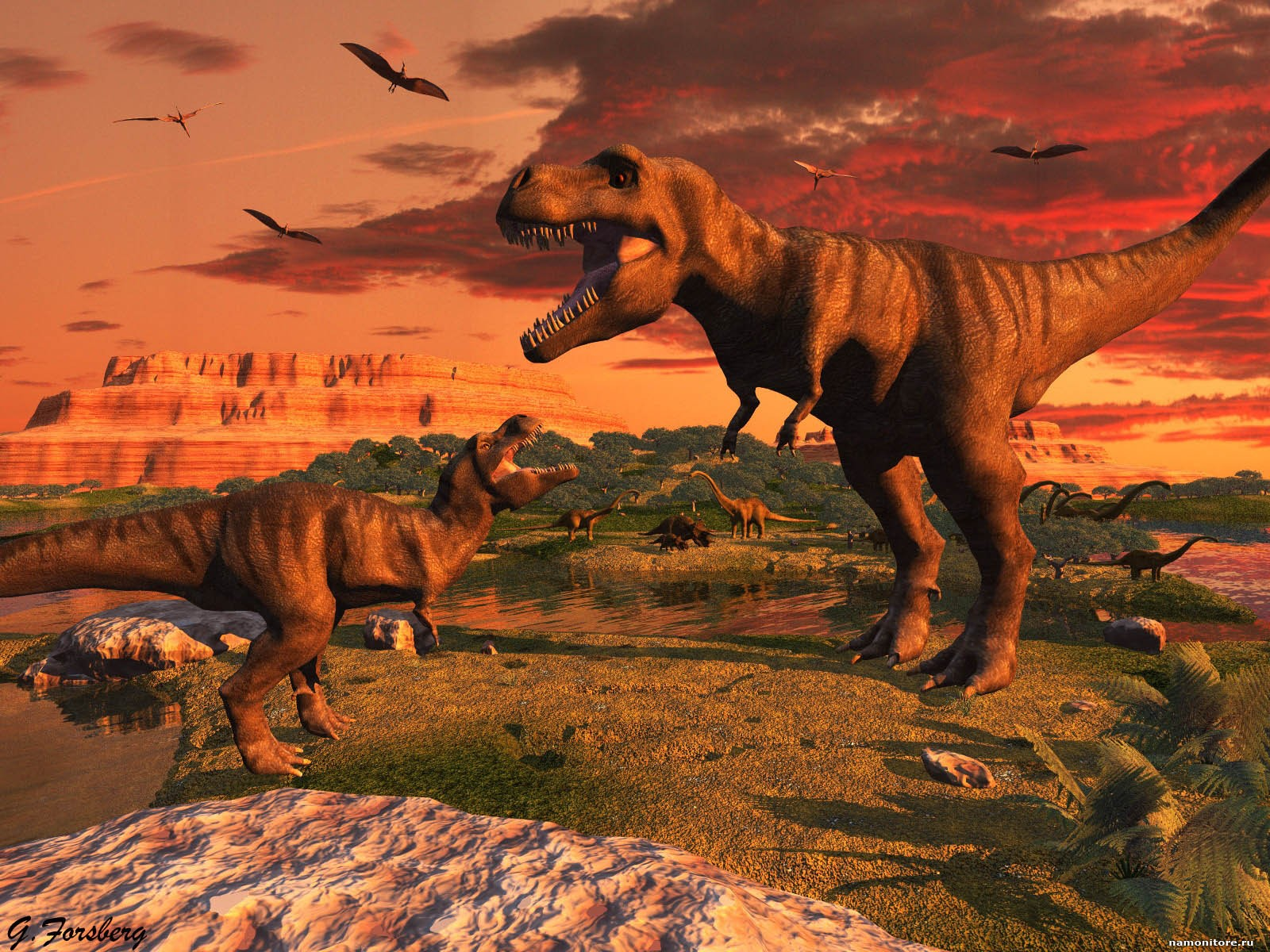 Ayr dinosaurs 3D dinosaurs drawed orange 1600x1200   Wallpapers 1600x1200