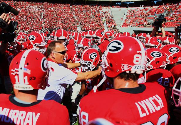 Georgia Bulldogs Football Team University of georgia football 616x427
