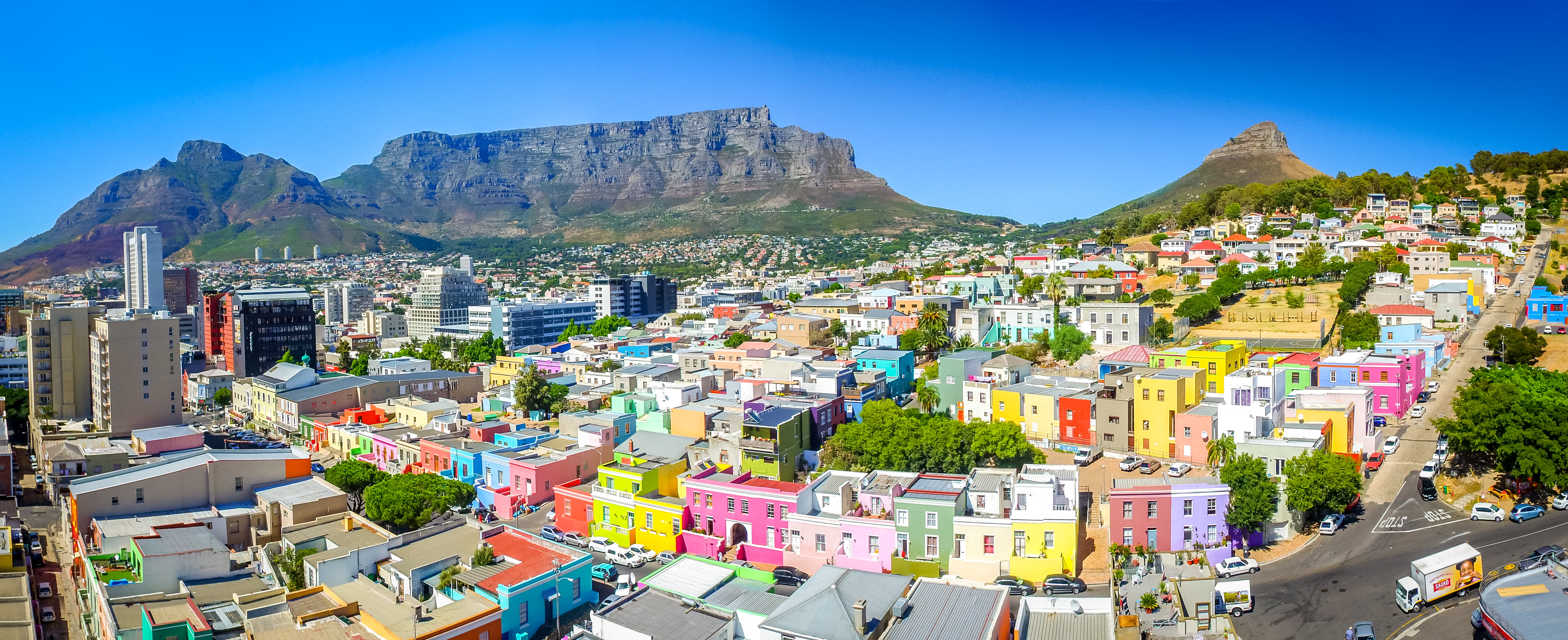 Cityscape illustration Cape Town mountains South Africa Table 5127x2092