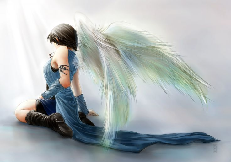 Final Fantasy VIII Rinoa Heartilly angel angels wallpaper 2966x2080 736x516