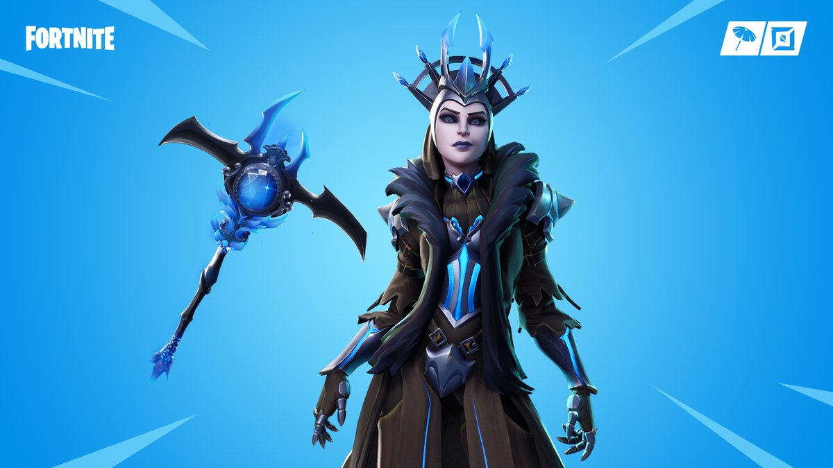 The Ice Queen Fortnite Skin Back Bling Pickaxe Styles Have Been 1200x675