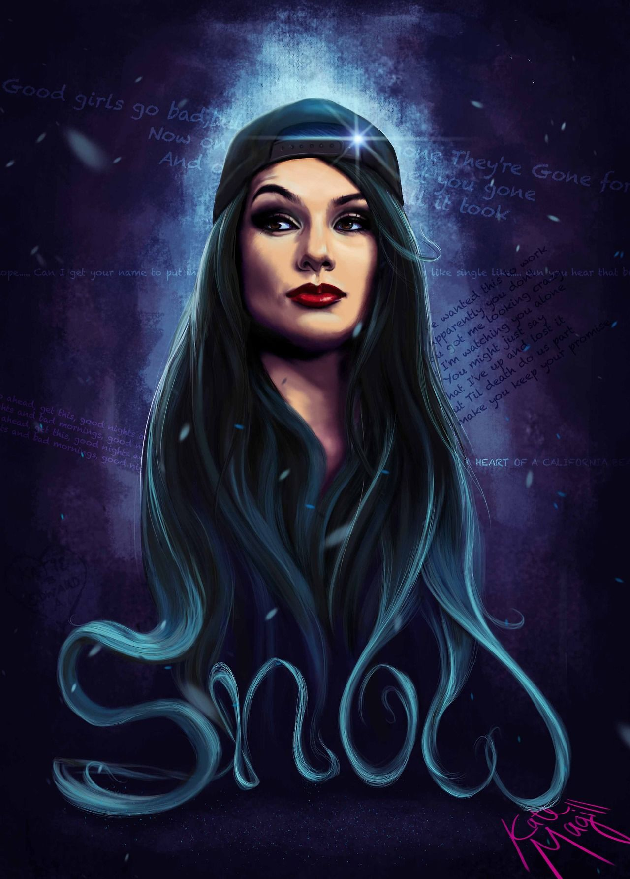 Fan art of Snow Tha Product Digital painting by Kate Magill 1280x1785