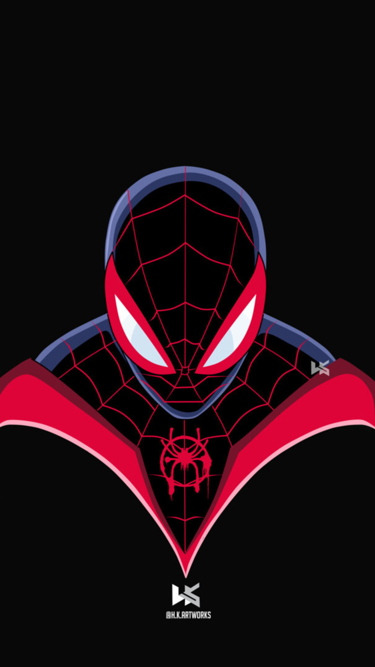 Spiderman Miles Morales Art   Spider Man Into The Spider Verse 750x1334