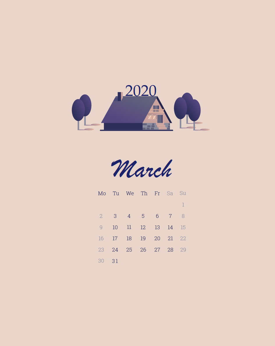 52] March 2020 Calendar Wallpapers on WallpaperSafari 945x1191