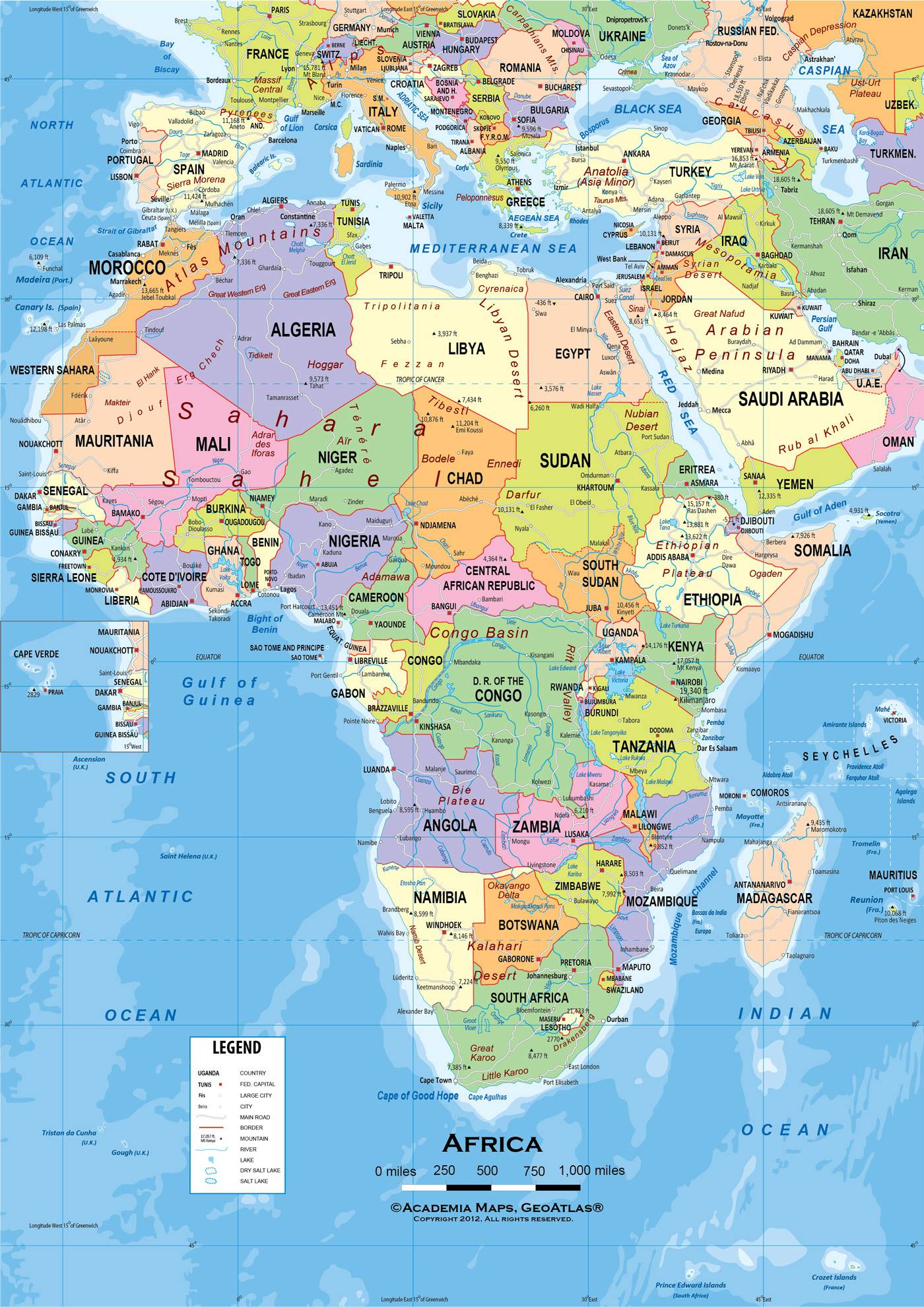 Africa Map Wallpapers 1400x1980
