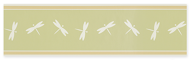 Green Dragonfly Wallpaper Border Childrens Room D 630x201