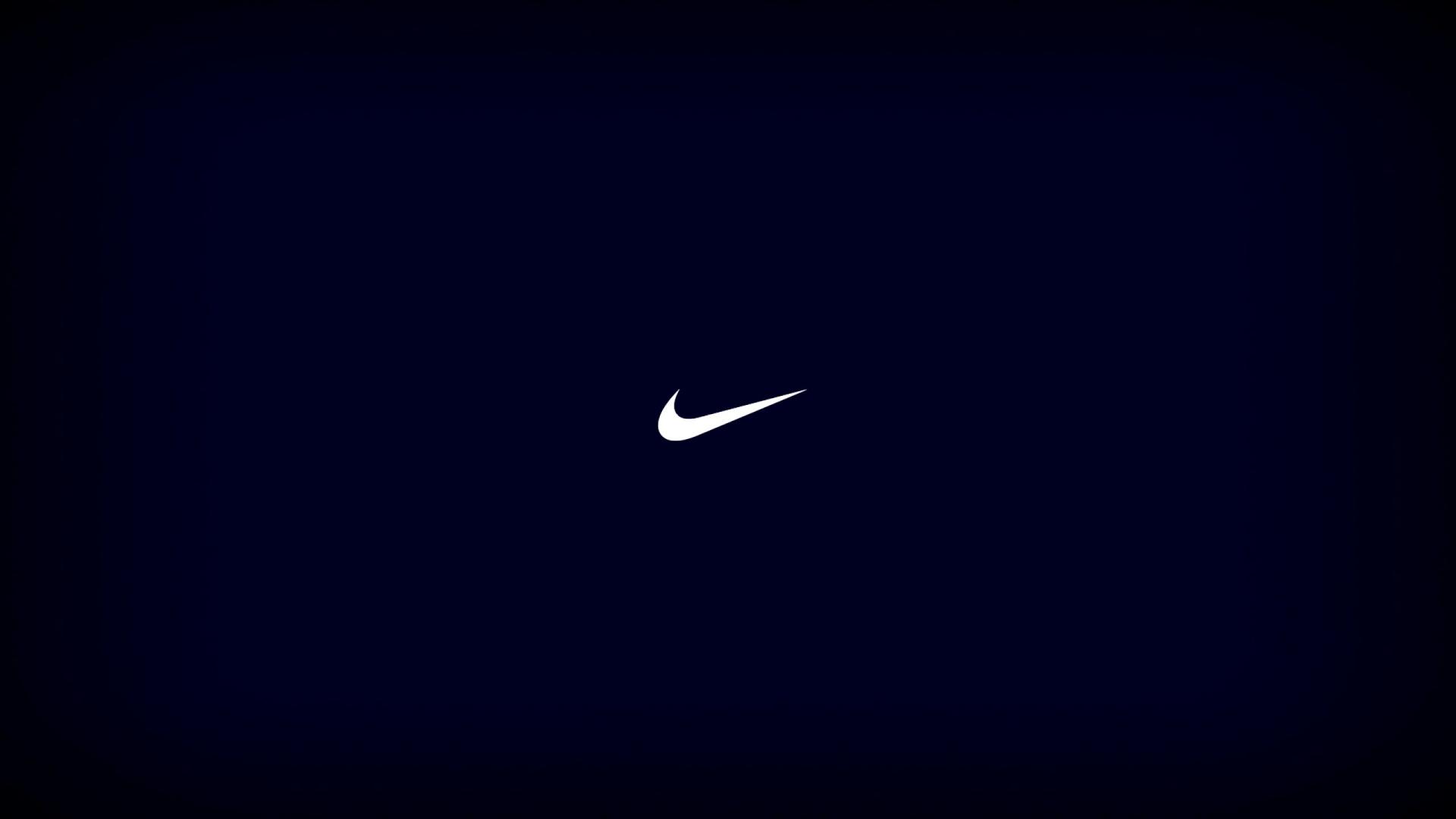 Nike Logo On The Blue Background Wallpaper Desktop Wallpaper with 1920x1080