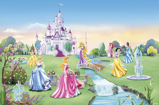 Princess   Castle   Children Wallpaper   Wall Mural Photo Wallpaper 620x413