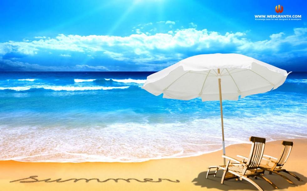 download beach summer desktop wallpaper 980612 980x612