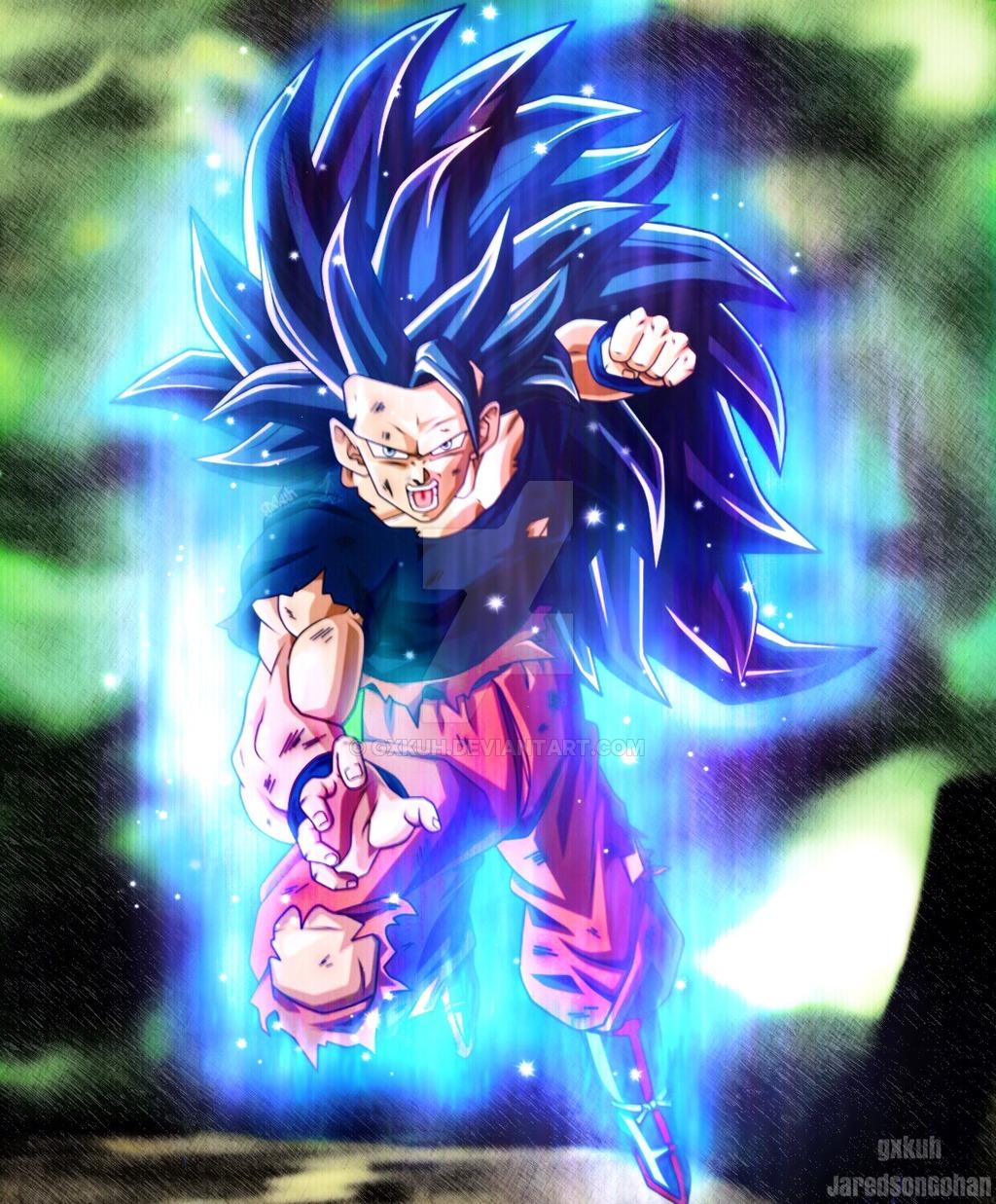 Ssj3 Goku Ultra Instinct by gxkuh 1024x1237