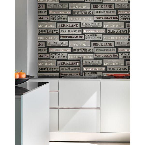 Bath Resource 3 Wallpaper by Brewster modern kitchen contemporary 600x600
