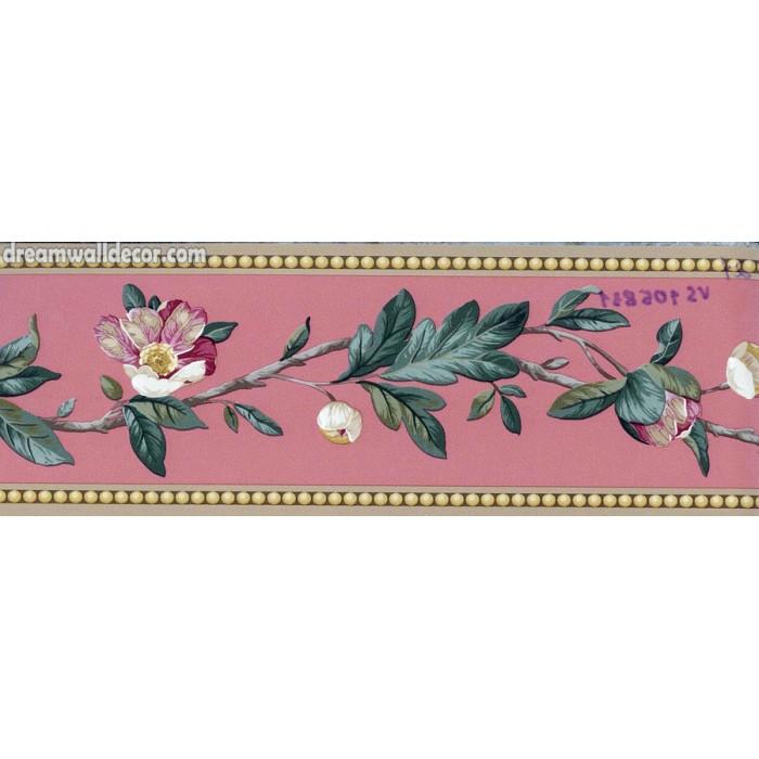 Brown Flower Vine Wallpaper Border 700x700