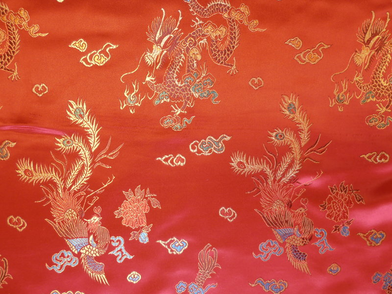 Chinese Brocade Red Dragons Textile Express 800x600
