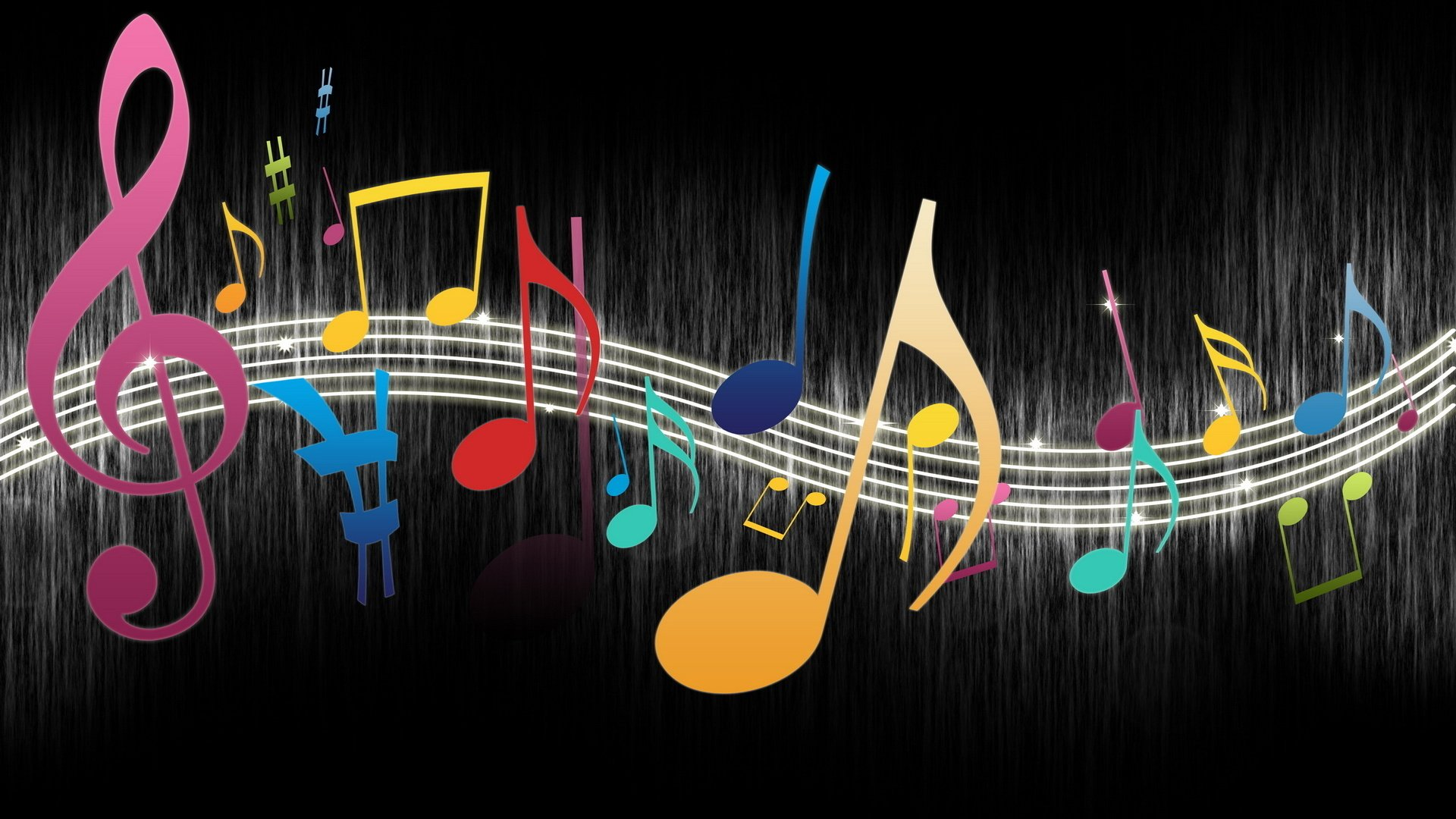 3d Colorful Music Notes Wallpaper: Colorful Music Notes Wallpaper