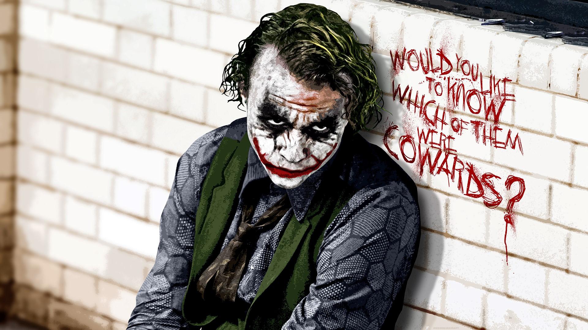 The Joker in Batman Movie Wallpaper HD Wallpapers 1920x1080