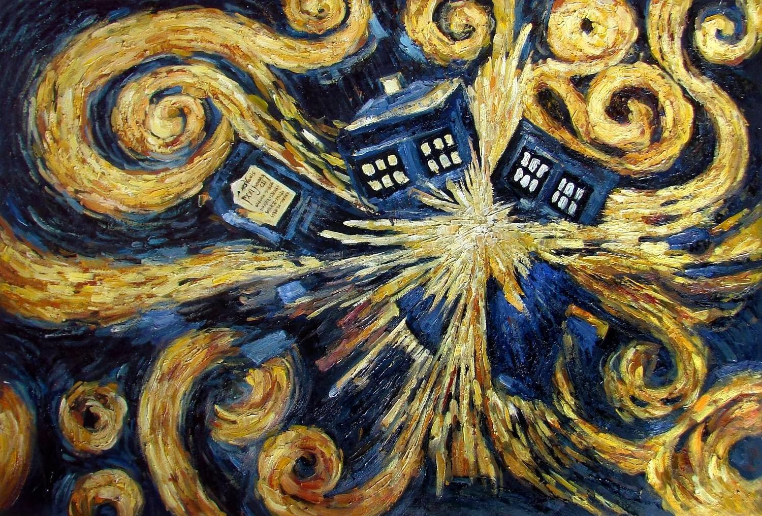 Van Gogh Tardis Wallpaper From the pandorica opens 1500x1017