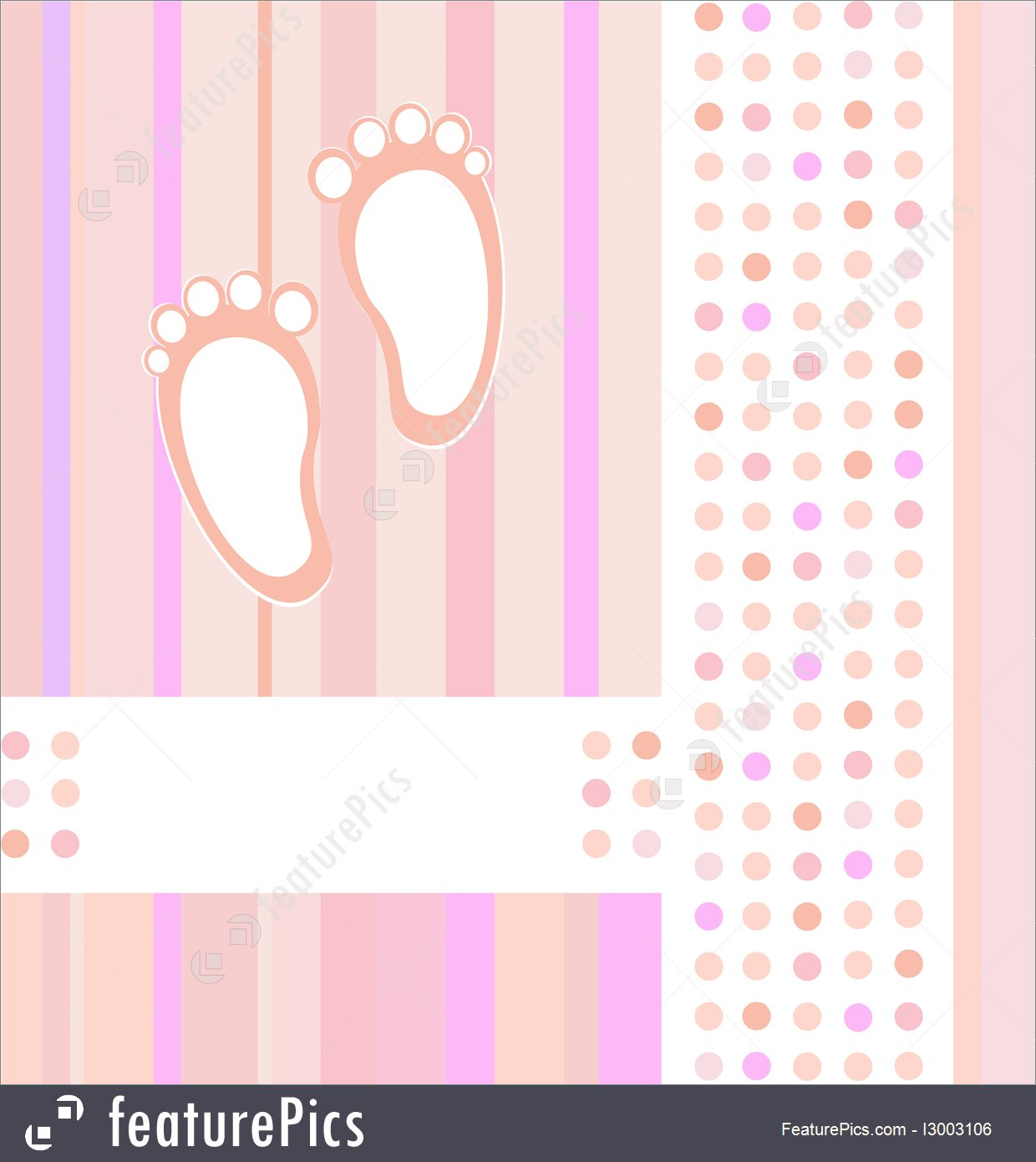 Templates Baby Girl Announcement Card Background Vector   Stock 1240x1391