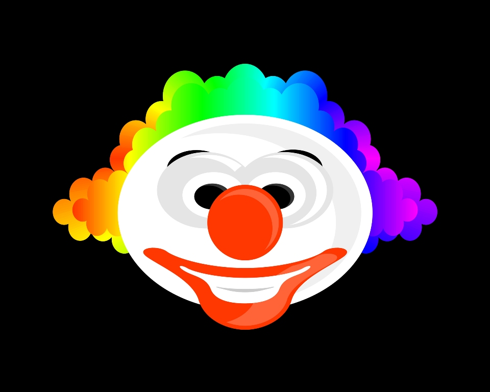 Happy Clown Wallpaper 960x768