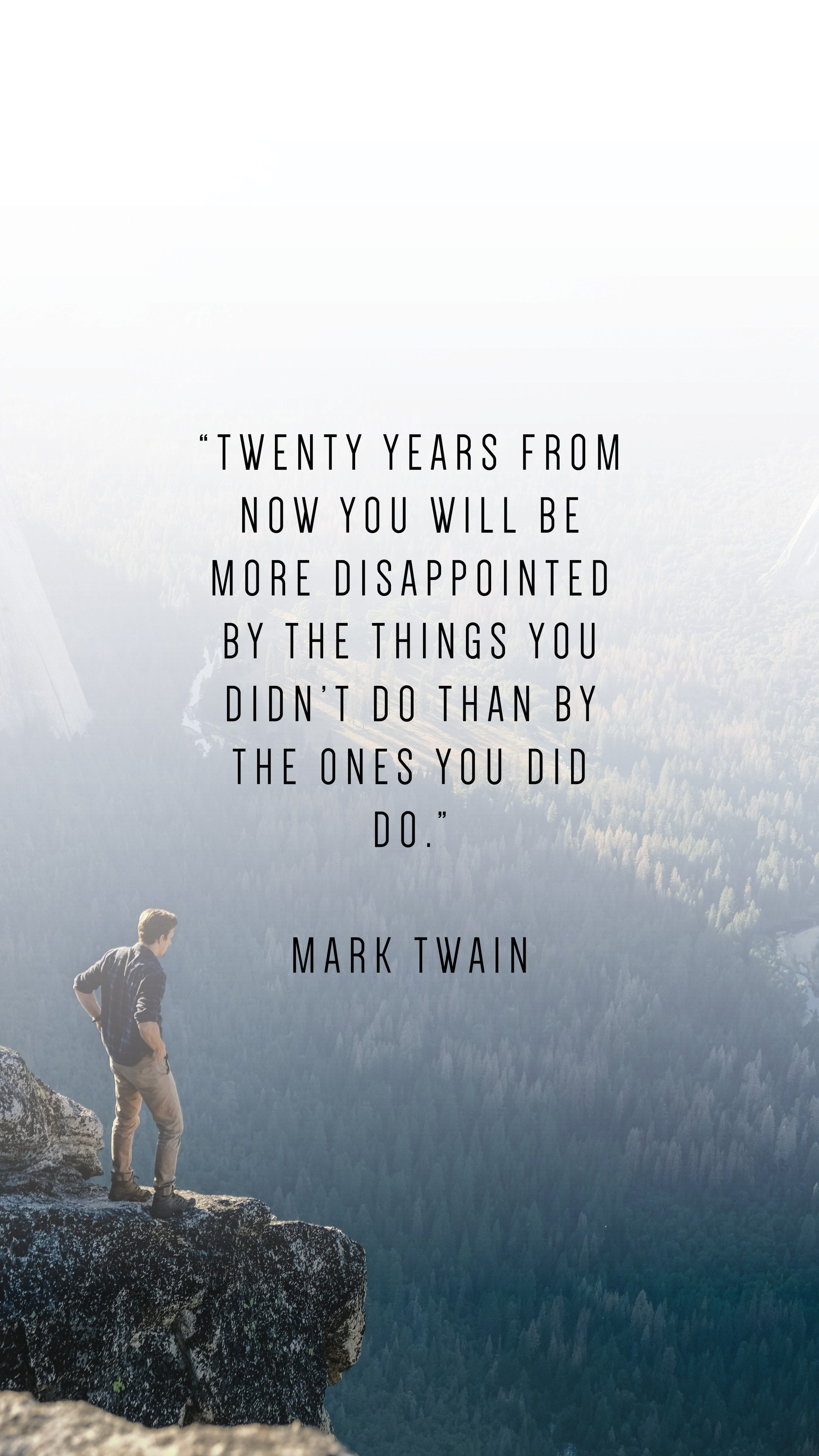 30 Phone Wallpapers To Inspire   Mark twain quotes Chance 2800x4979