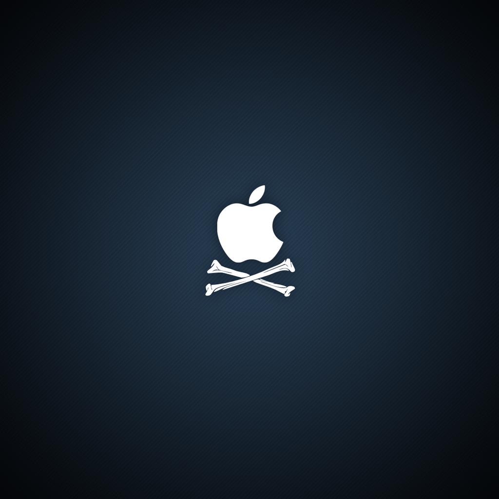 Pirate Apple Logo iPad 2 Wallpapers iPad Retina HD Wallpapers 1024x1024