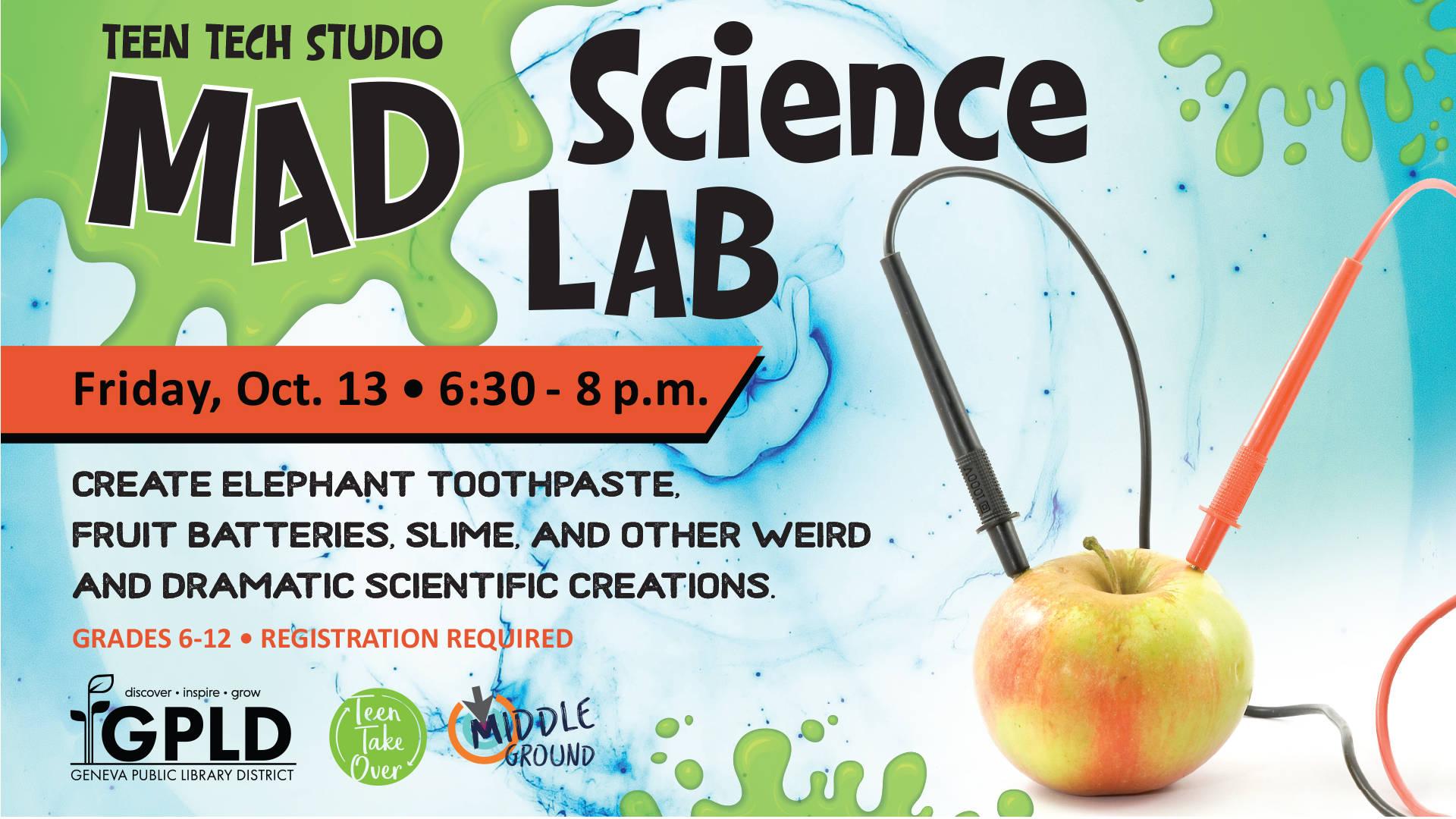 Teen Tech Studio Mad Science Lab   Geneva Public Library 1920x1080
