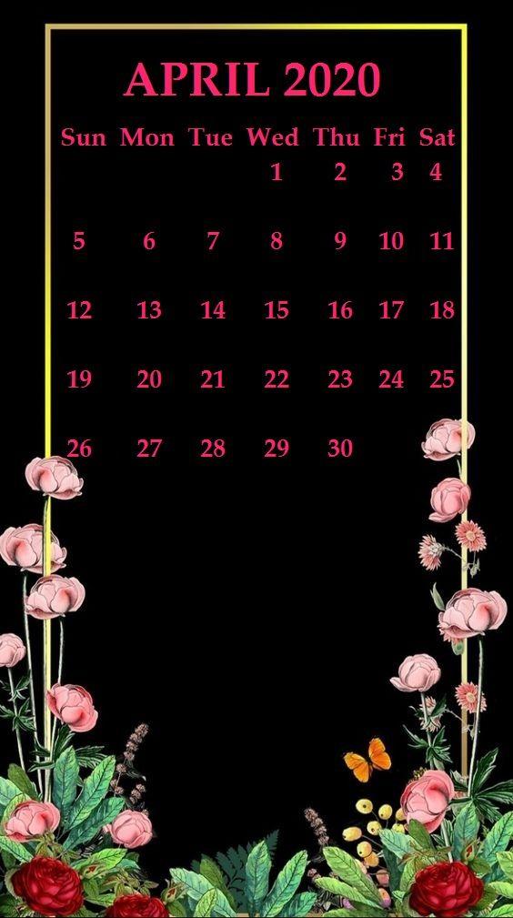 iPhone April 2020 Calendar Wallpaper Calendar wallpaper Monthly 564x1009