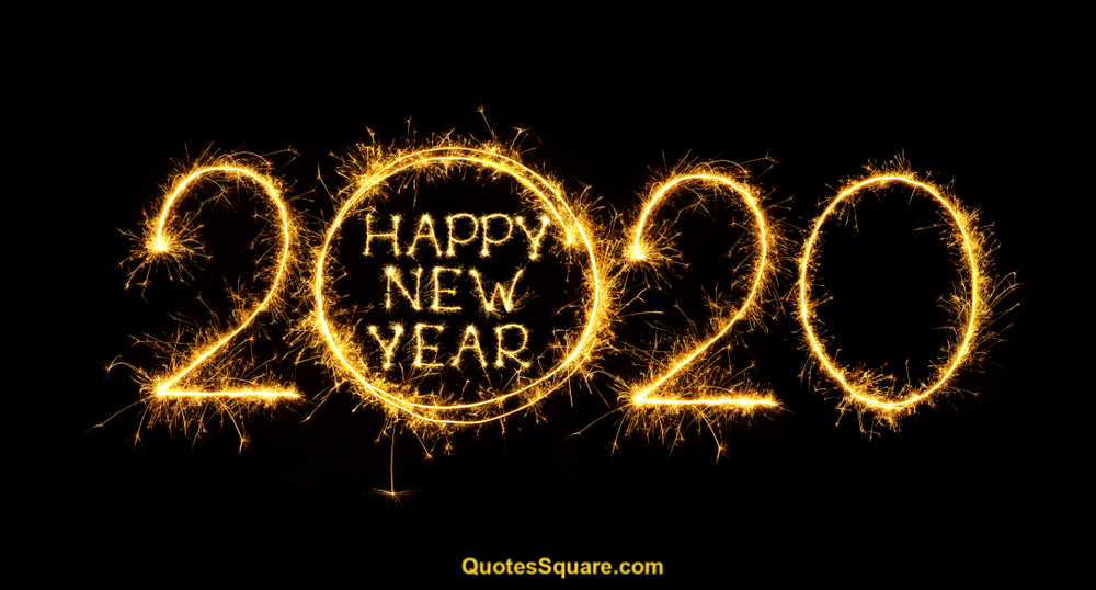 New Year 2020 Banner Love Image Sparkling   Happy New Year 2020 1000x538