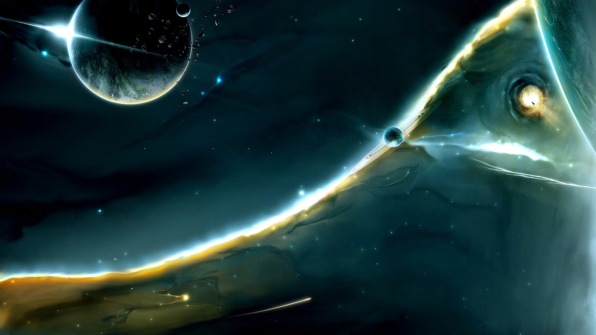Space wallpaper Full HD Star Planet Sci Fi 1920x1080