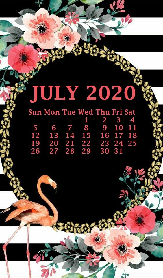 50] July 2020 Calendar Wallpapers on WallpaperSafari 564x965