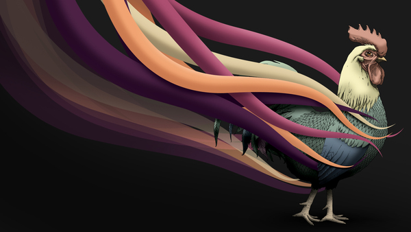 Rooster Wallpaper on Behance 600x338