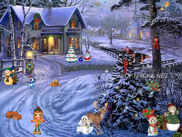 Christmas Paradise Screensaver captura de pantalla 640x480