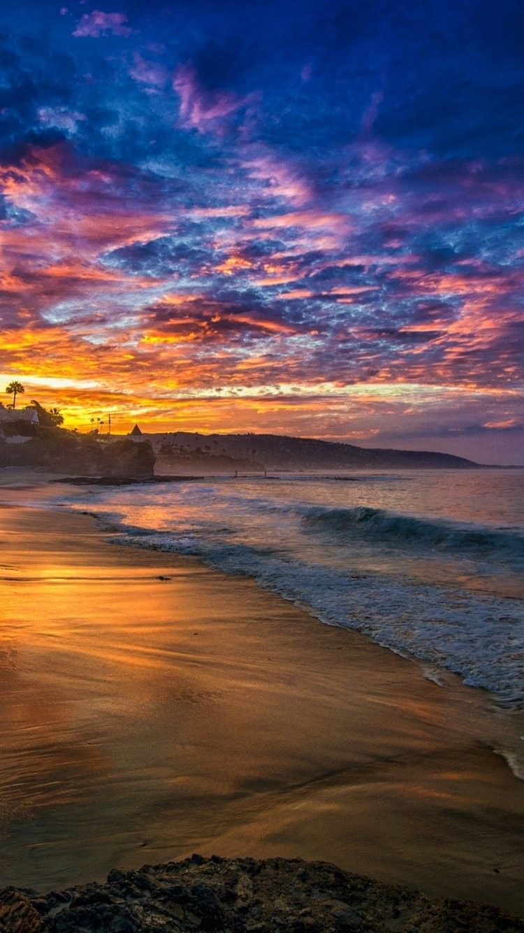Beach Sunset iPhone 6 Wallpaper 28812   Beach iPhone 6 750x1334