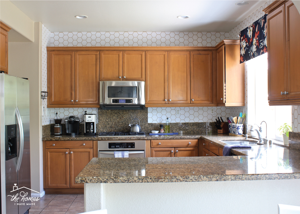 How to Wallpaper a Backsplash The Homes I Have Made 1000x714