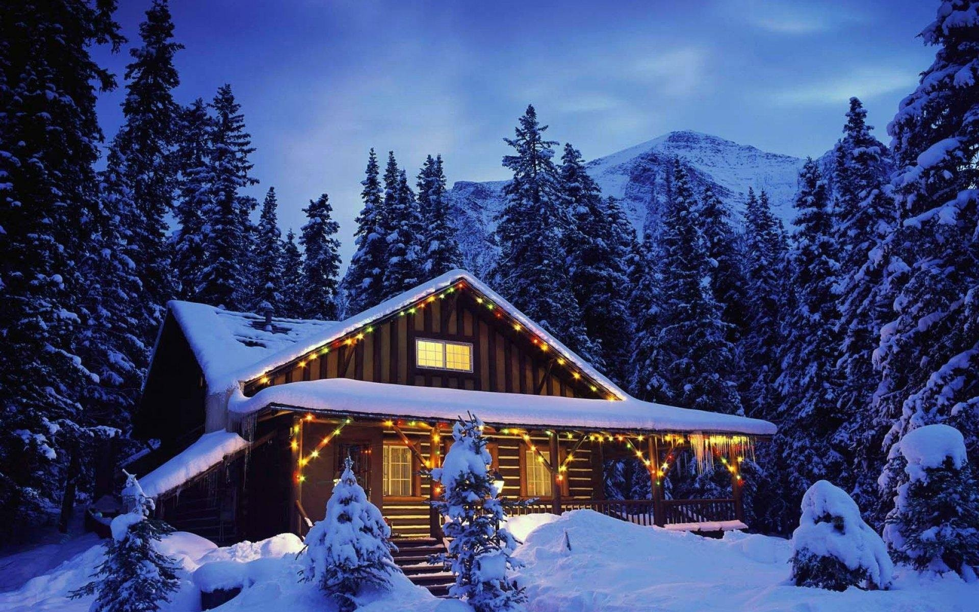 58 Christmas Cabin Wallpapers on WallpaperPlay 1920x1200