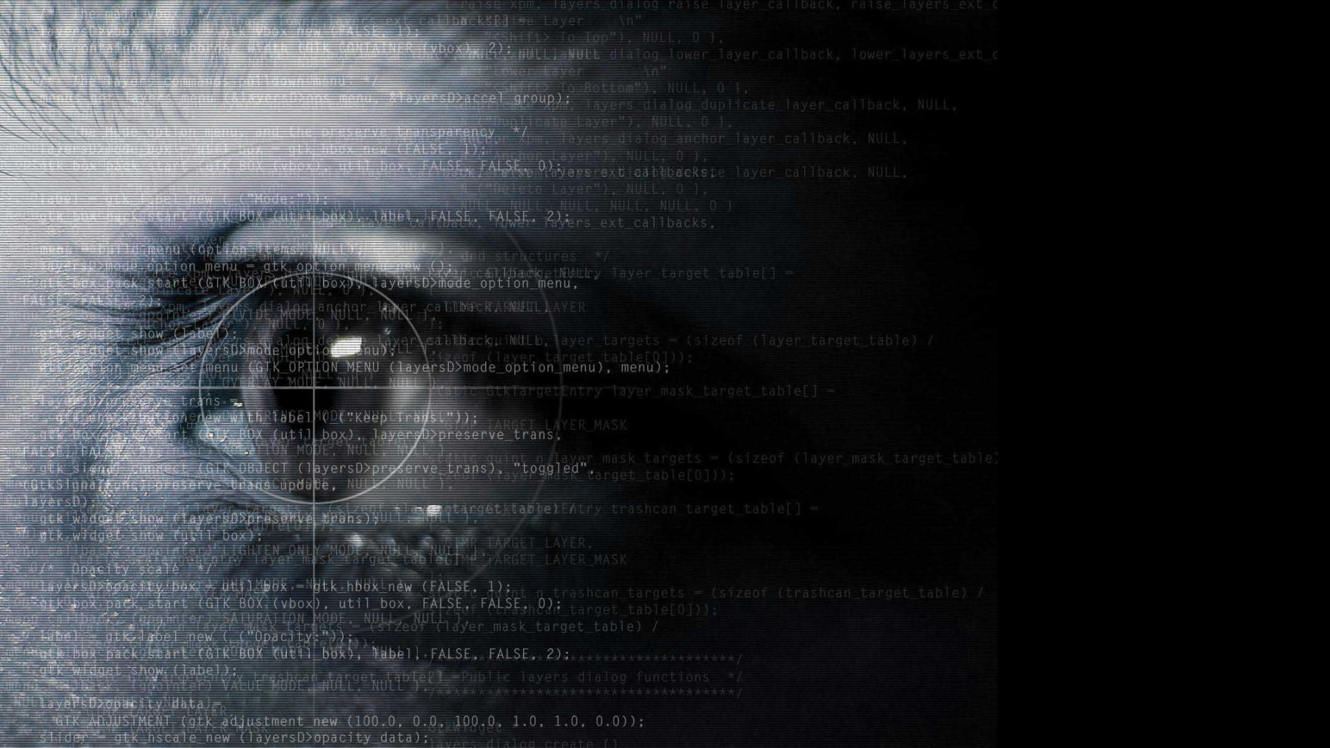 Abstract eyes text programming wallpaper 1920x1080 308965 1920x1080