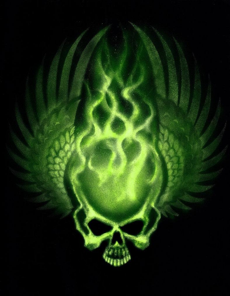 Картинка с черепом зеленого огня картинка с черепом зеленого огня, смешные