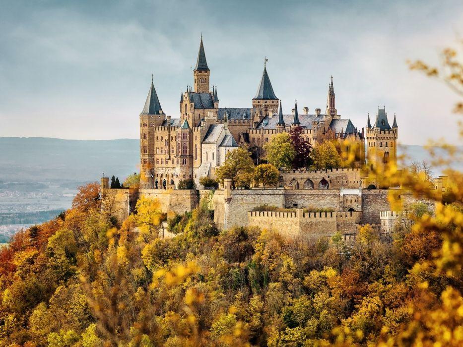 Hohenzollern Castle in autumn German wallpaper 1600x1200 933x700