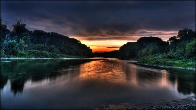 Click on image to open fullHD wallpaper   Donau sunrise Wide 1920x1200 640x360