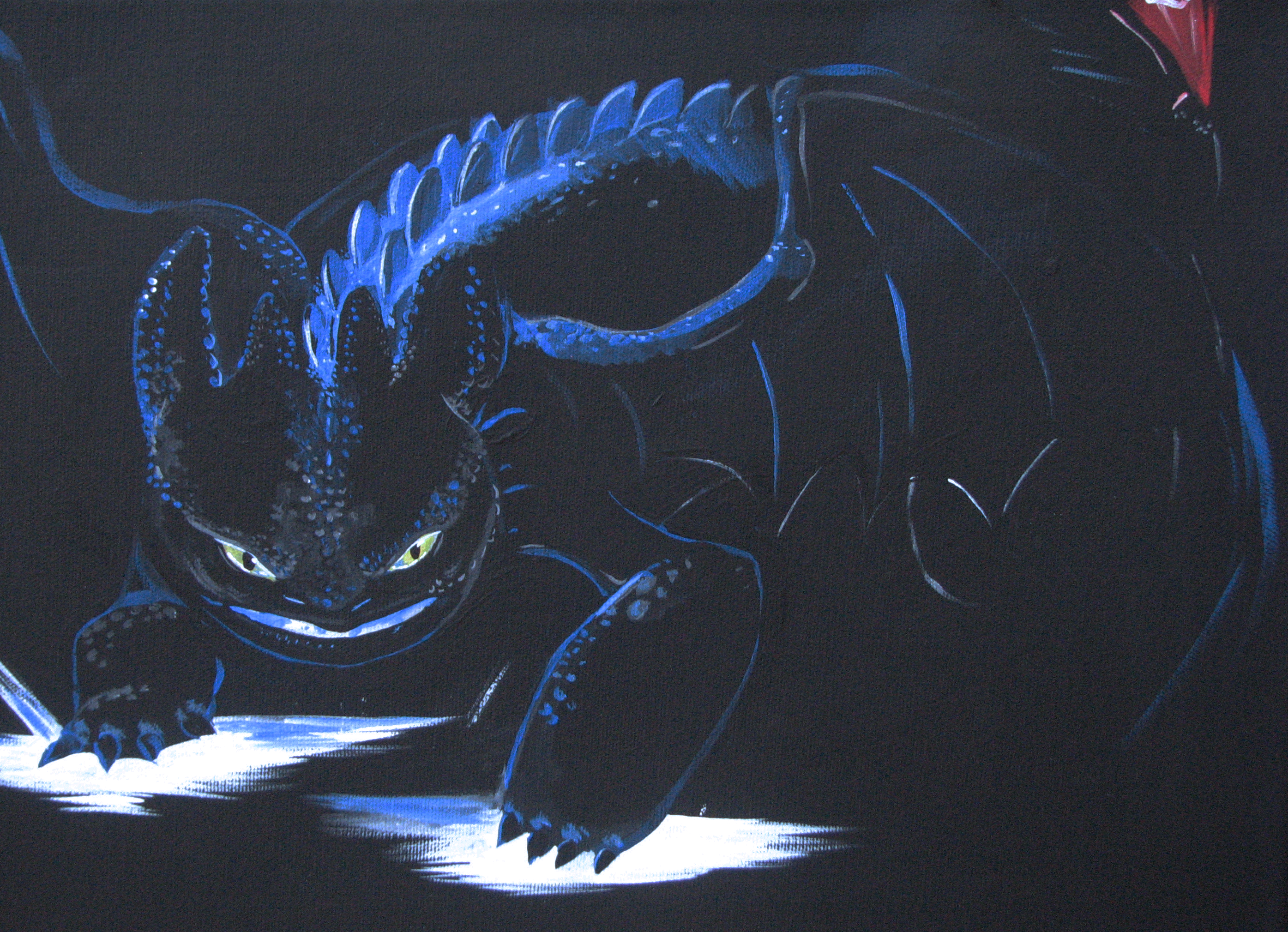 Glowing Alpha Toothless by Nomati 2790x2019