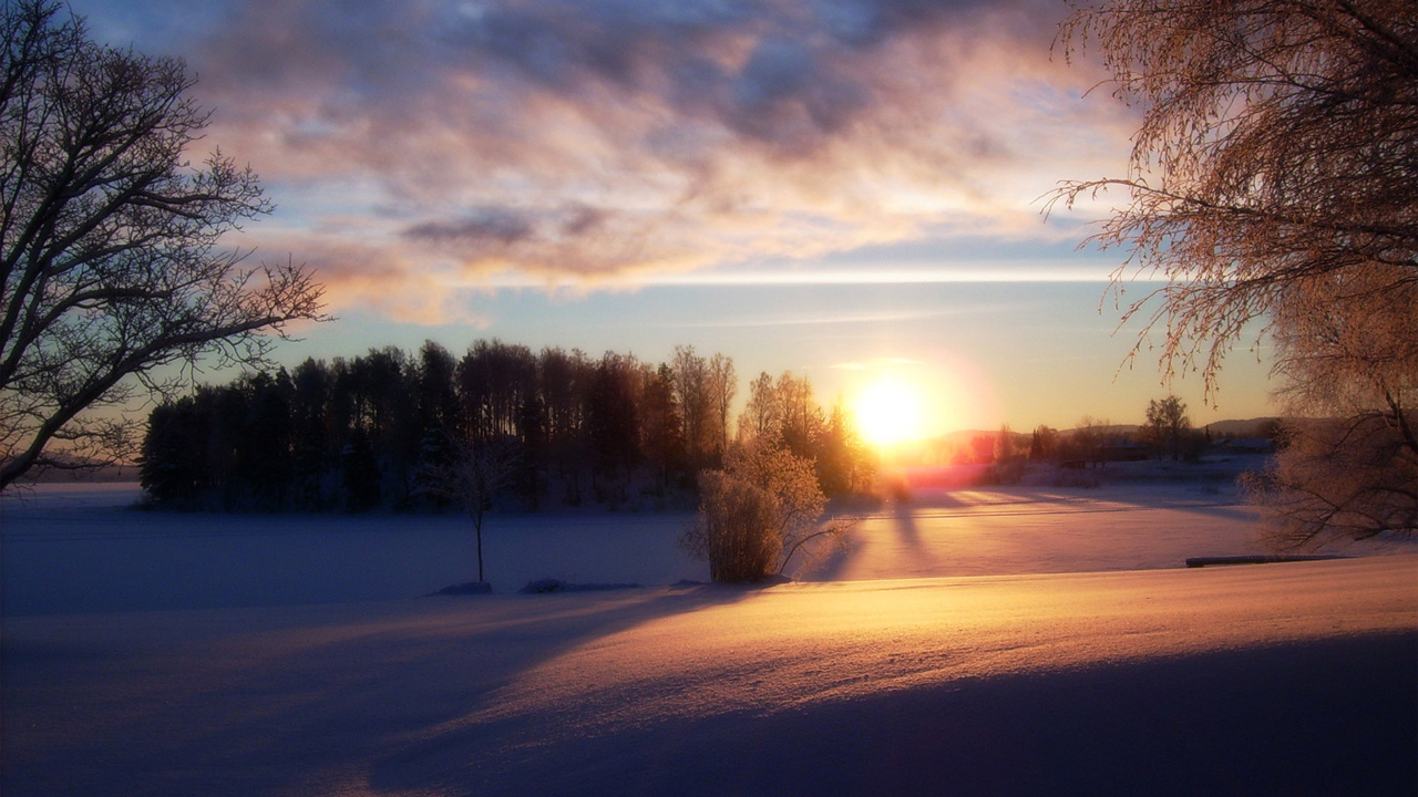Beautiful Snow Scenery Wallpapers HD Desktop 1280x720