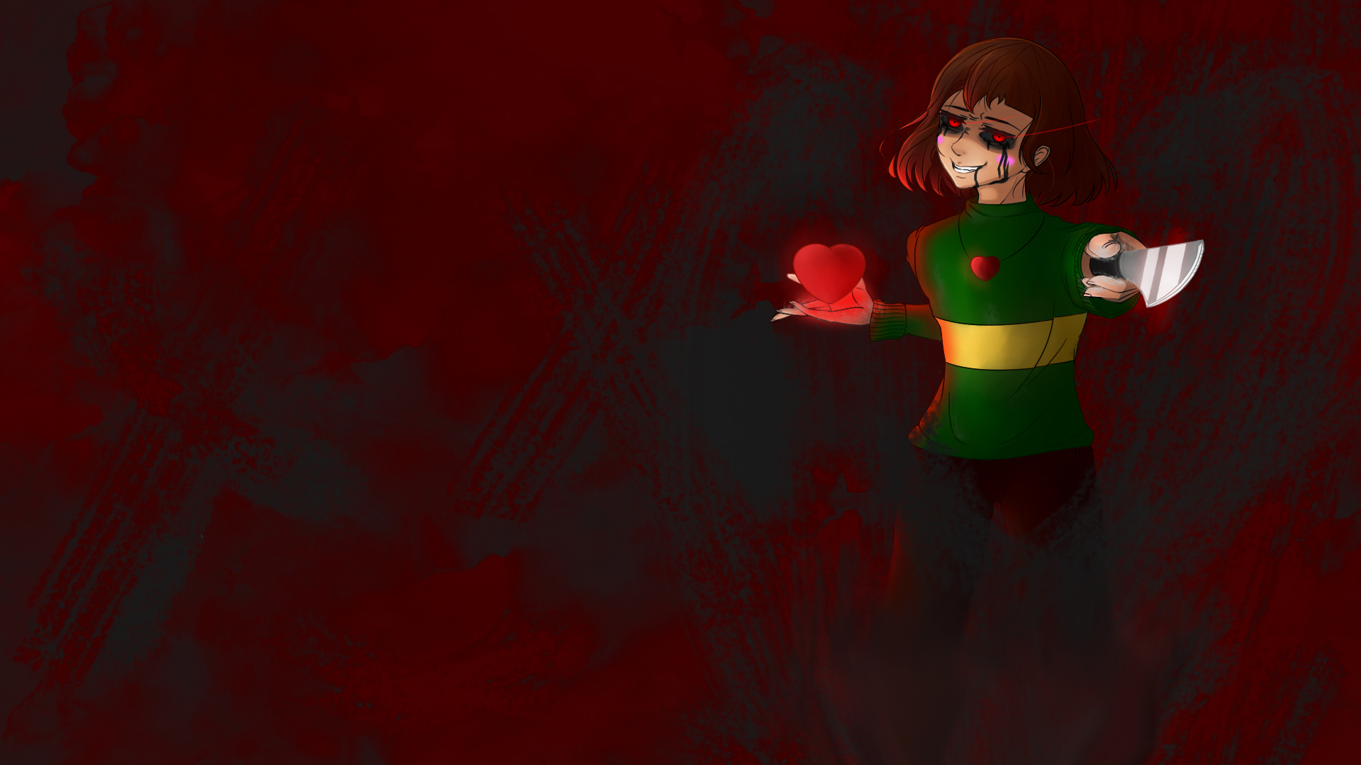Chara   The World is Ending Undertale Wallpaper by DigitalColdI on 1920x1080