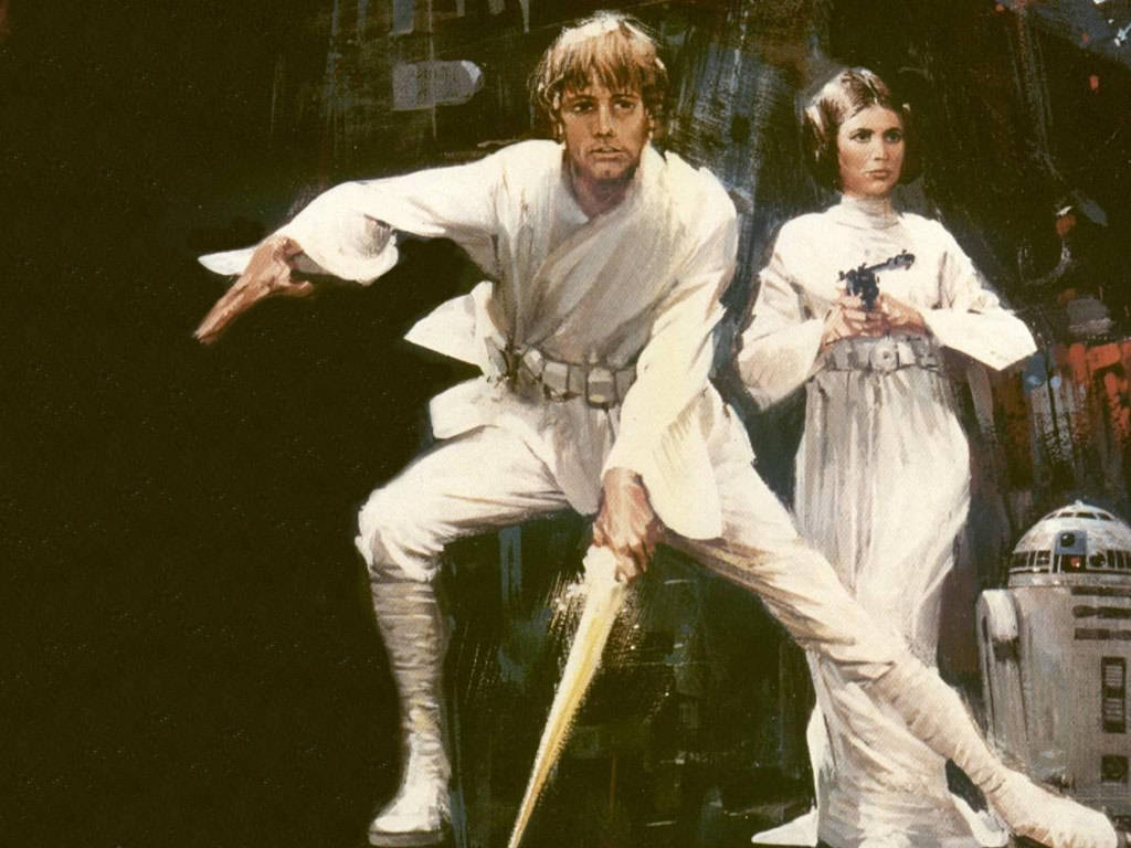 Luke Skywalker Leia Wallpaper Star Wars Wallpaper 1024x768