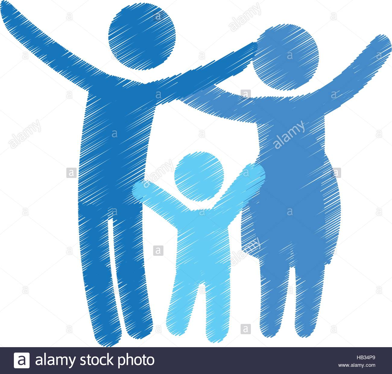 family of parents and kid over white background colorful and 1300x1240