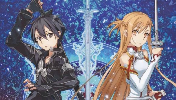 Sword Art Online   Asuna And Kirito PS Vita Wallpaper 580x329