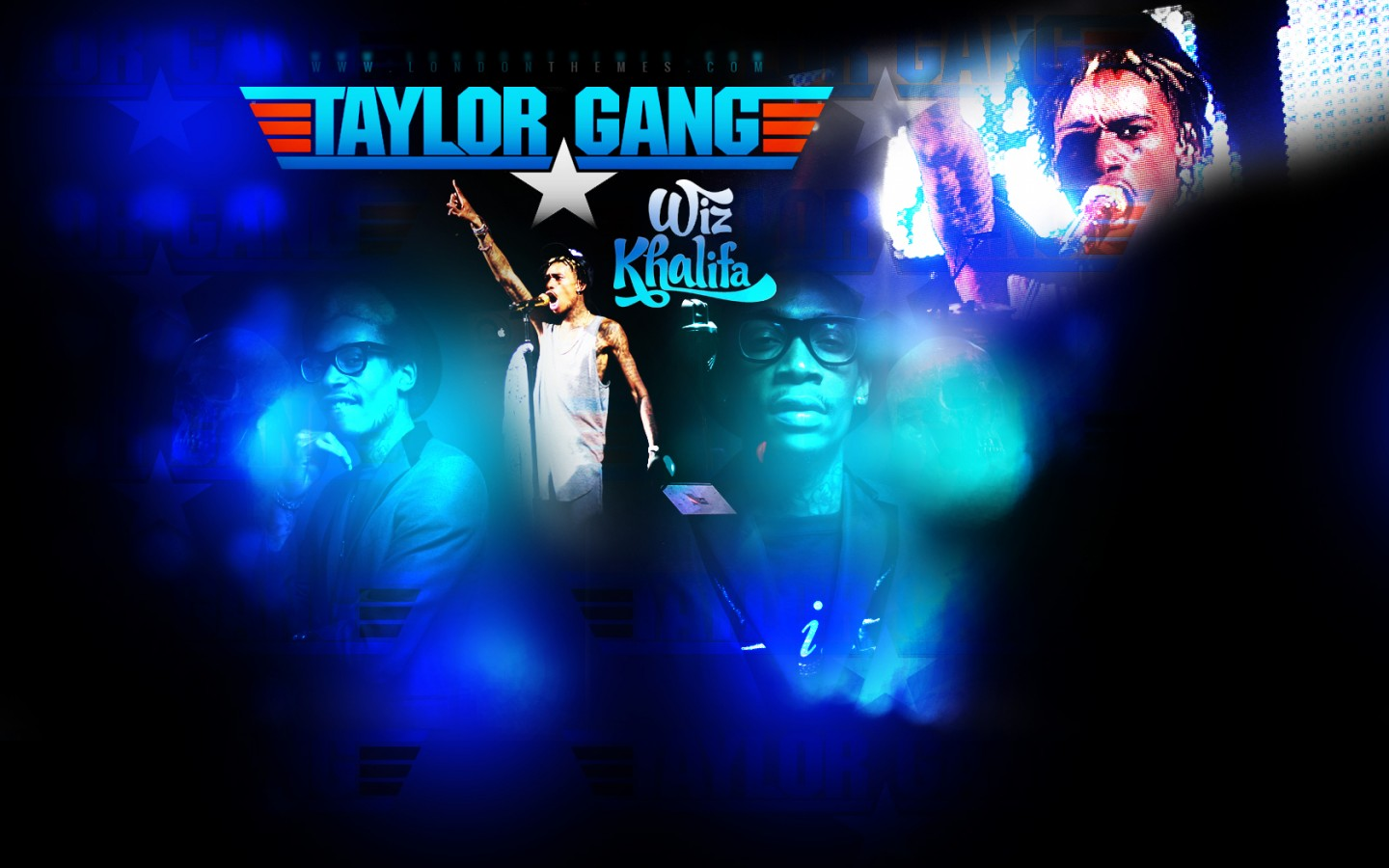 Wiz Khalifa Taylor Gang Concert Rap Wallpapers 1440x900