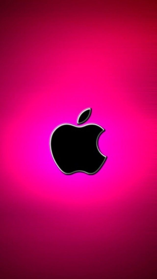 Hot Pink Apple Logo HOT Pink papeis de parede para 640x1136