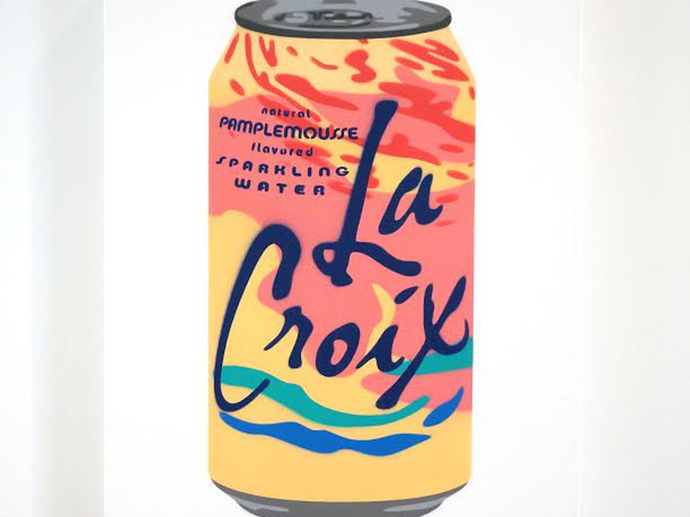 These LaCroix Paintings Are Warhols Campbells Soup Cans for 1400x1050