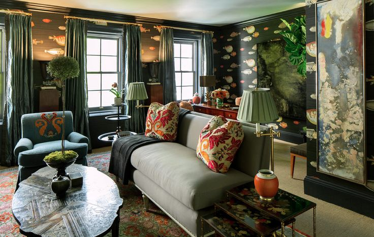 Fornasetti wallpaper I Interior Design Pinterest 736x467